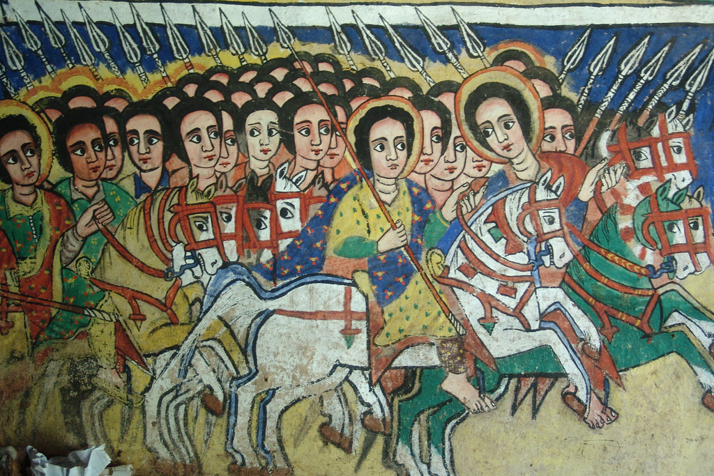 A mural in an ethiopian church