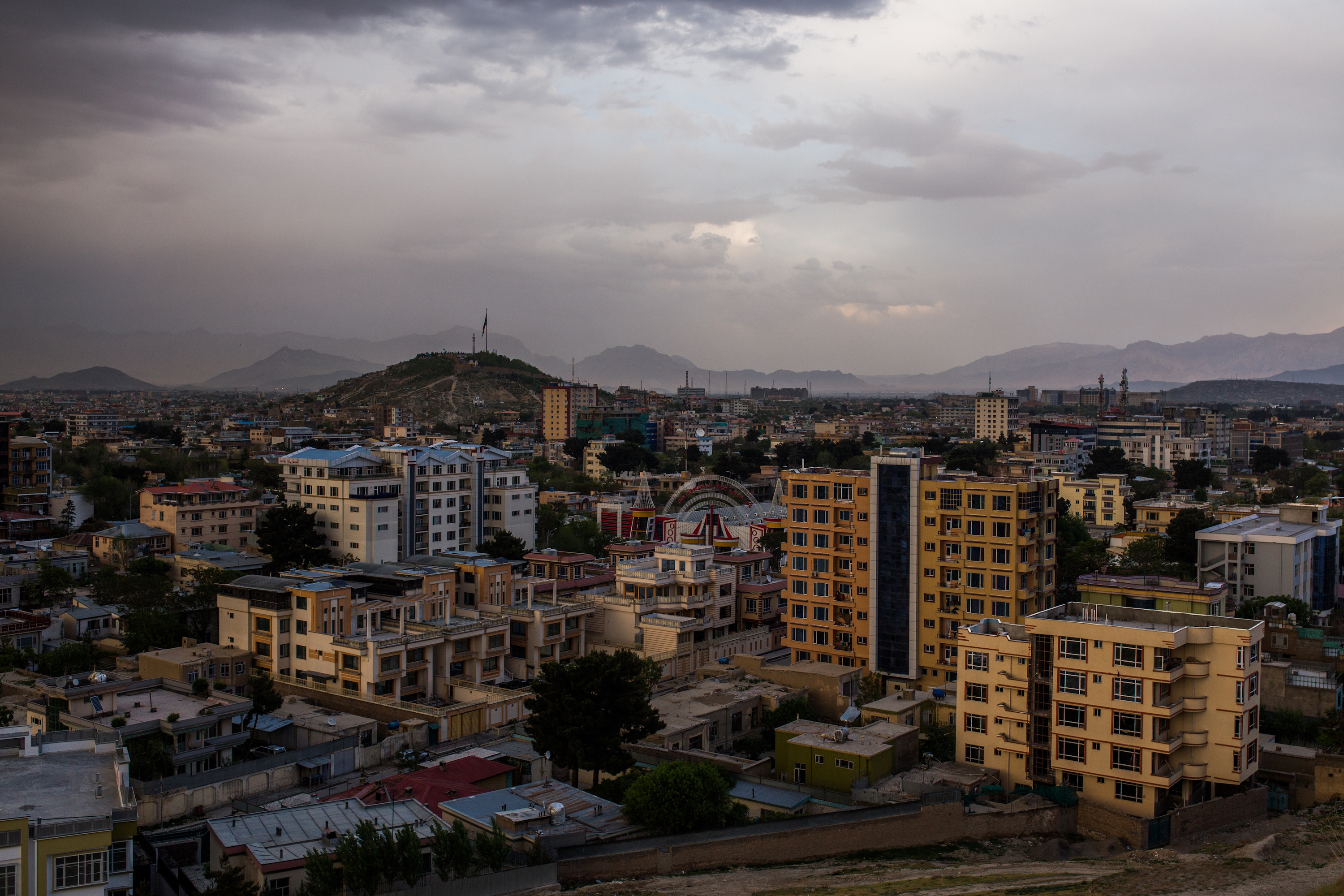 Skyline of Kabul, Afghanistan