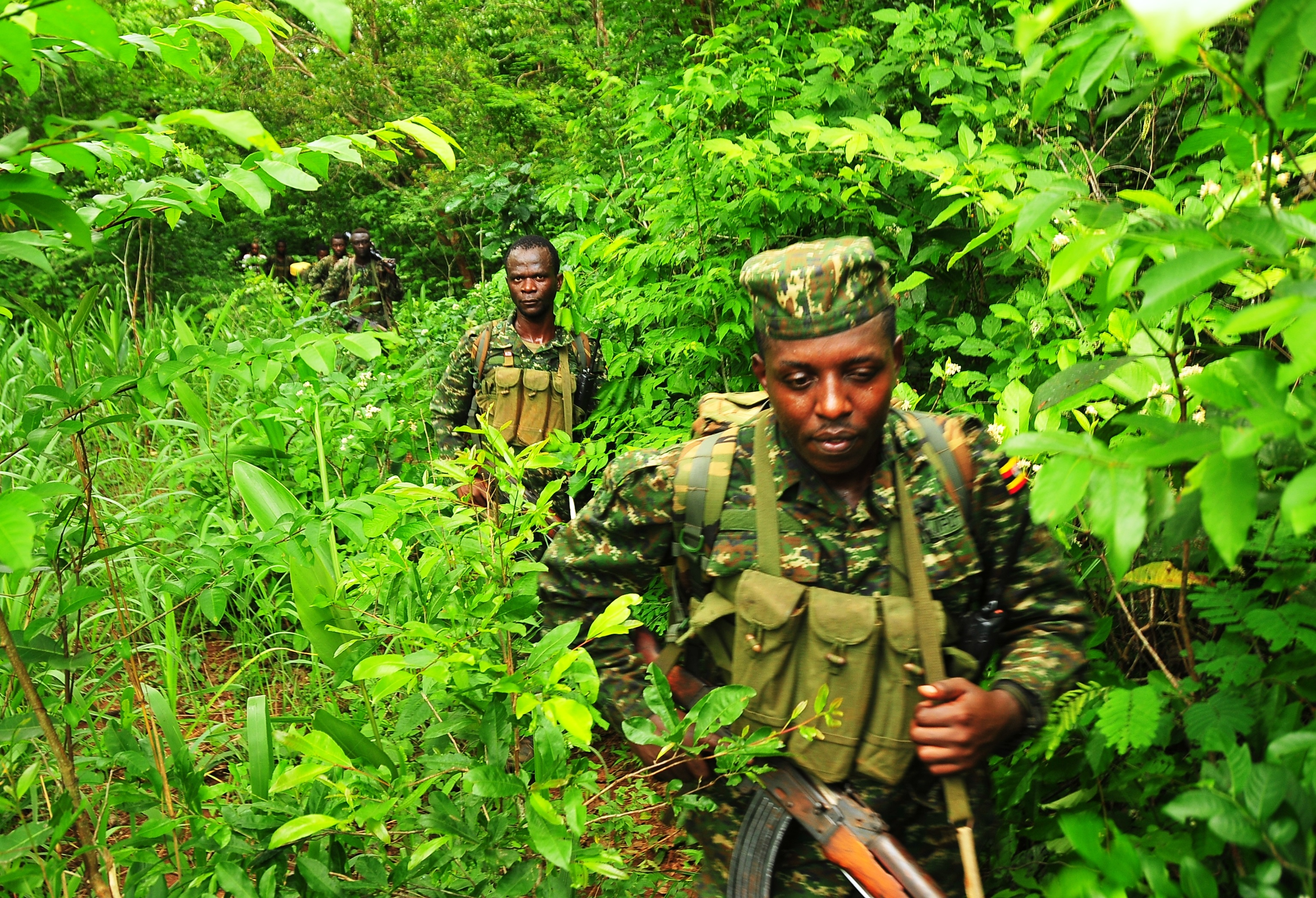 Ugandan soldiers hunting for Kony