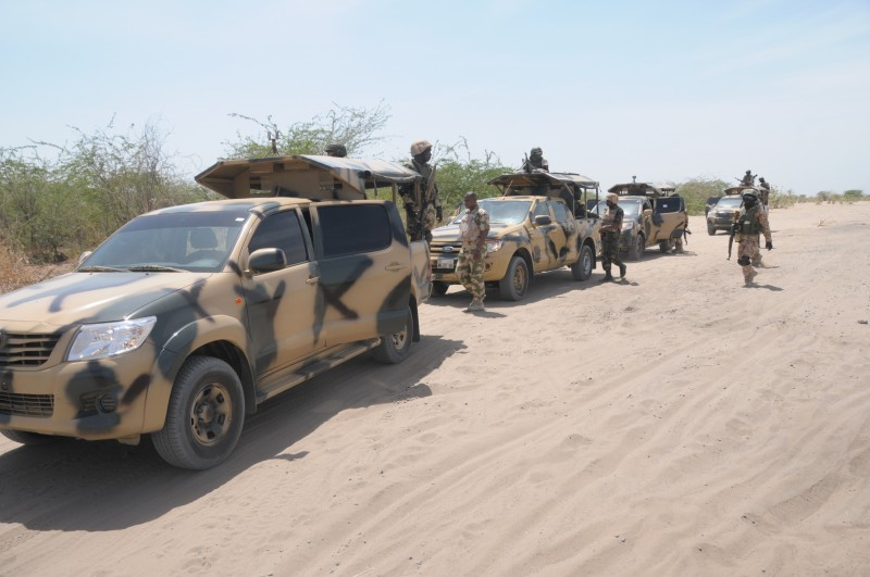 Nigerian army patrol in the northeast