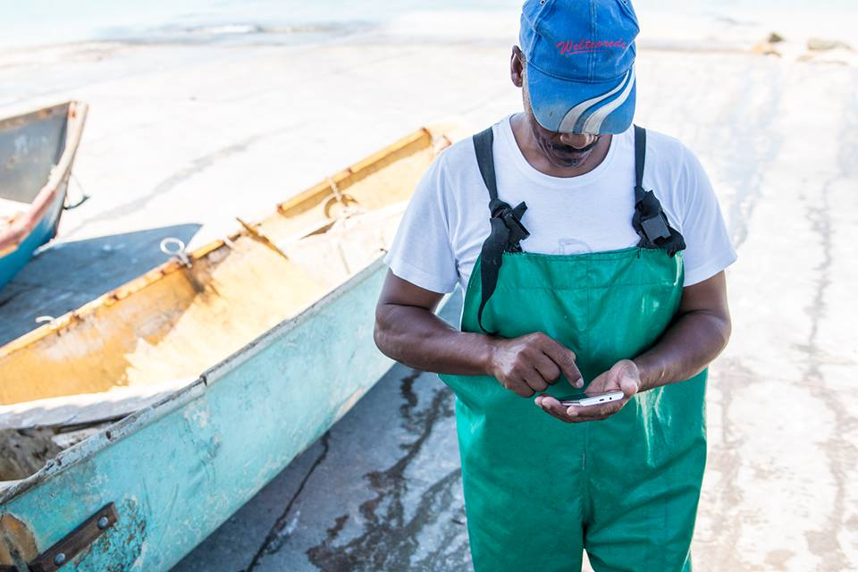 South African fisherman