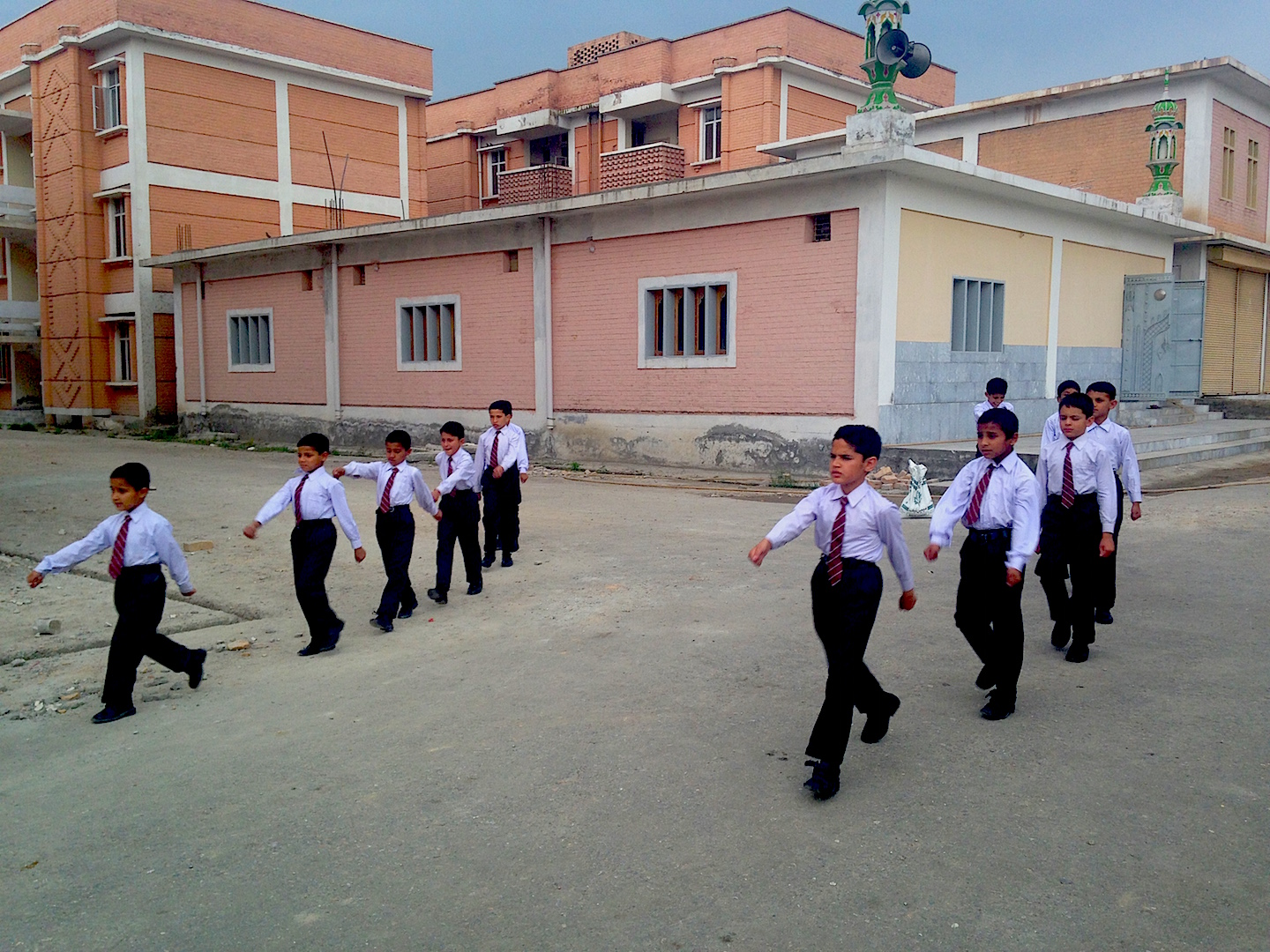 Students at Zamung Kor school