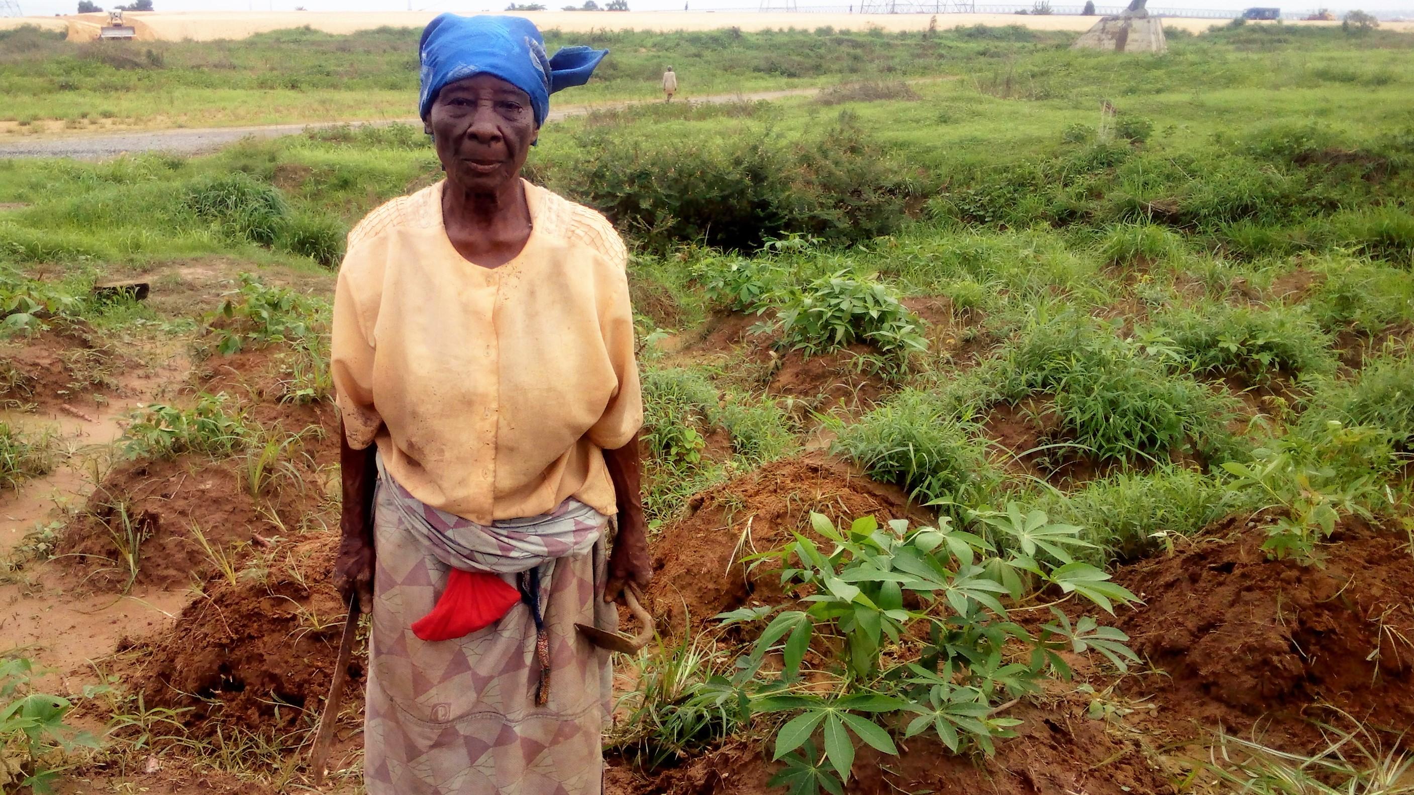 Alice Daniel, 80, a farmer in southern Nigeria's Delta State