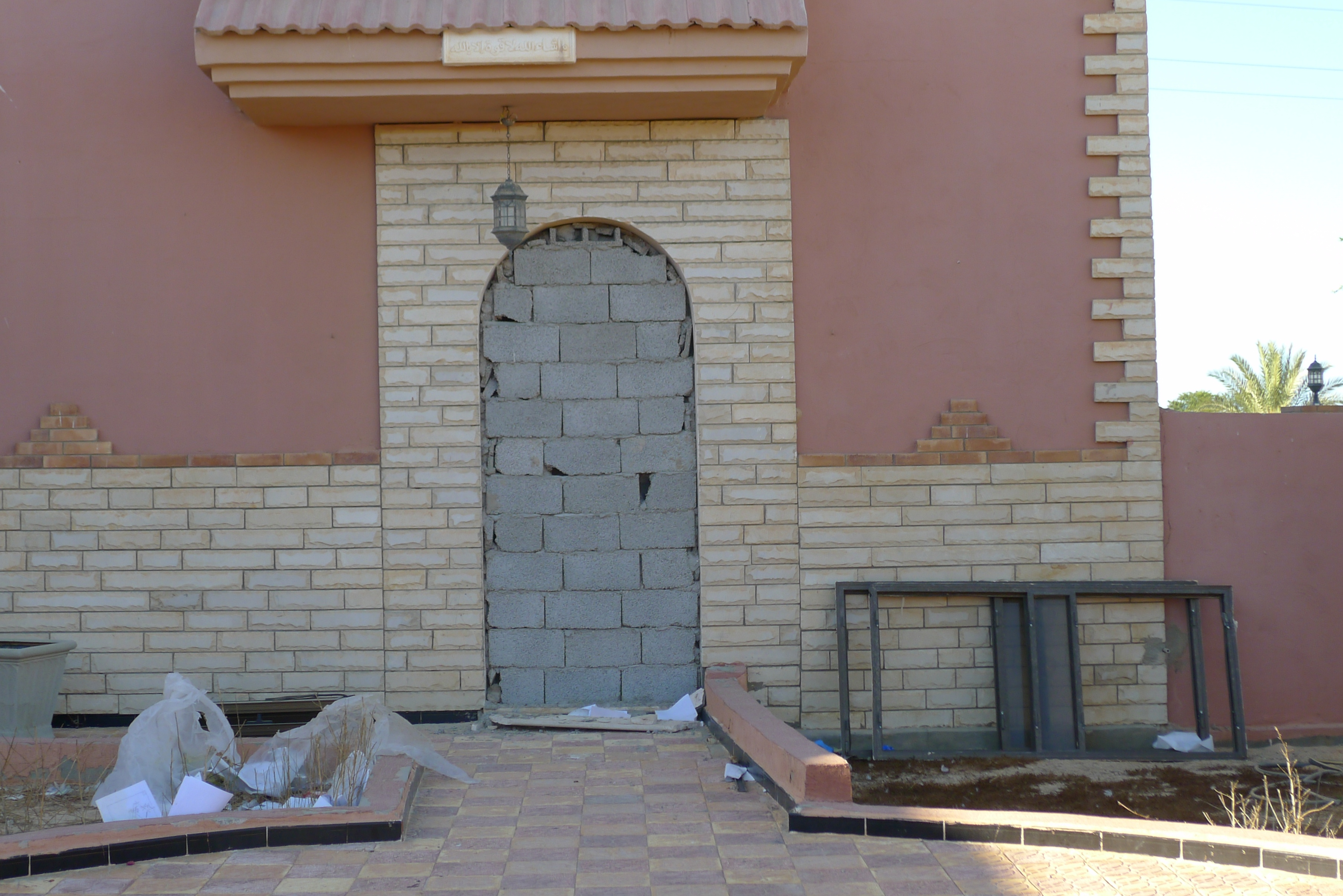 A bricked up doorway