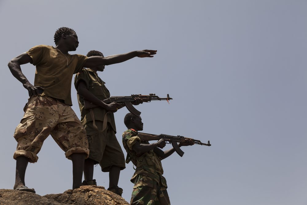 Soldiers from the Sudan People's Liberation Army
