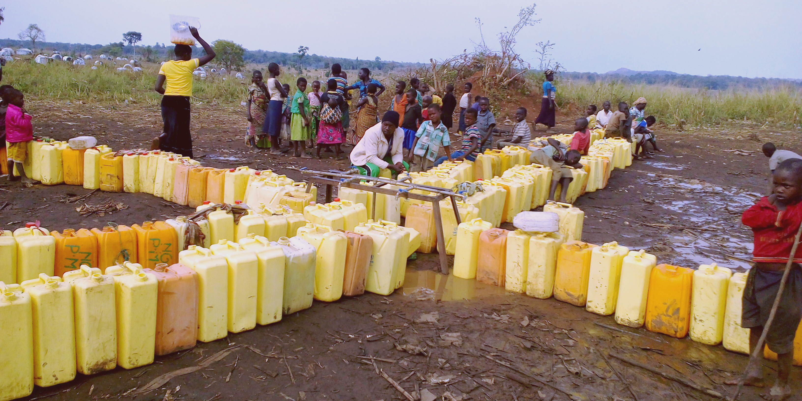 The refugee's wait for water at Maratatu camp, Kyangwali refugee settlement, Hoima district. Access to clean water remains one of the challenges