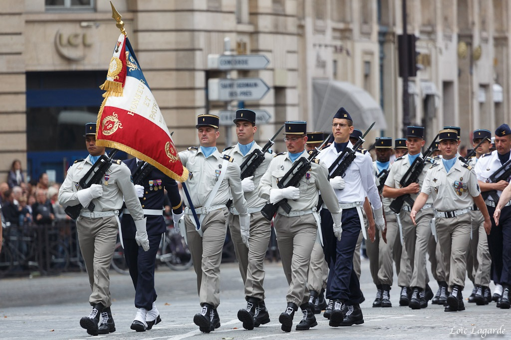 French troops on parade