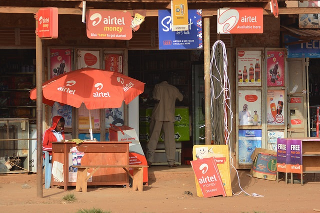Cell phone shop and mibile money agent in Gulu