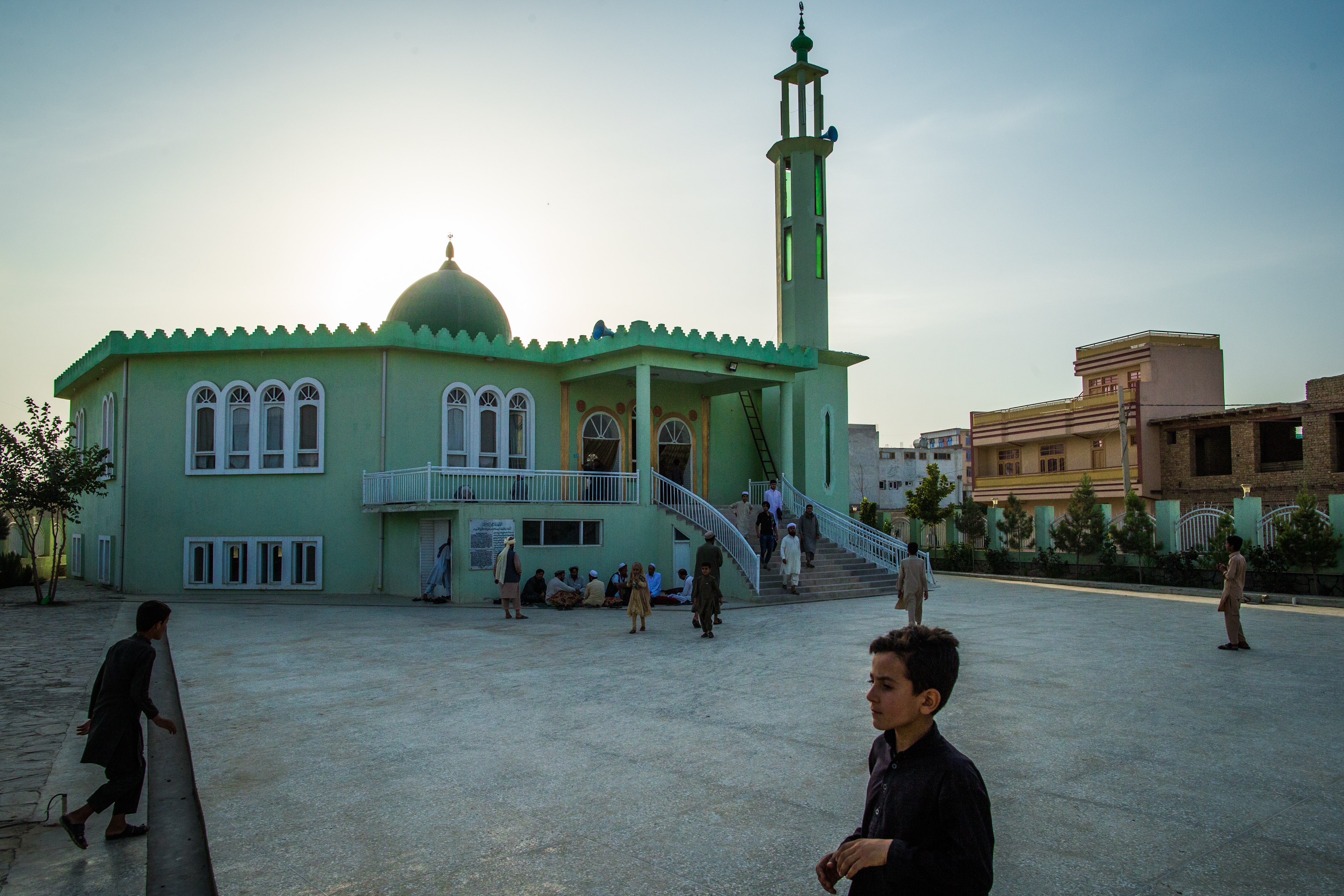 Masjid Salam, a mosque on the outskirts of Kabul, Afghanistan