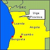 Country Map - Angola (Uige Province)