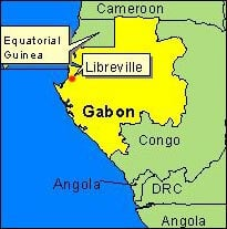 Country Map - Gabon (Libreville)