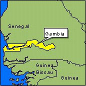 Country Map - Gambia