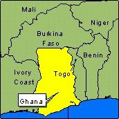 Country Map - Ghana