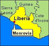 Country Map - Liberia (Onrovia)
