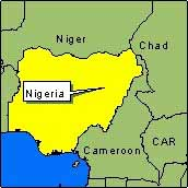 Country Map - Nigeria