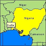 Country Map - Nigeria (Delta State)