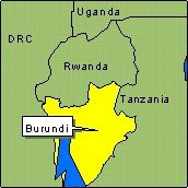 Country Map - Burundi