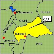 Country Map - Central African Republic (CAR)