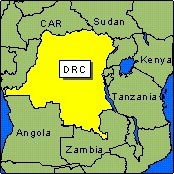 Country Map - DRC