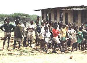 [Swaziland] Swazi primary school, showing children at risk of HIV because of their extreme poverty.