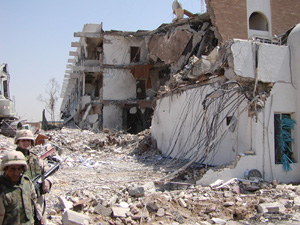 [Iraq] UN HQ at the Canal Hotel (Baghdad) following the 19 August 2003 bomb.