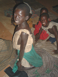 [Uganda] Displaced sleeping out in Kitgum town.