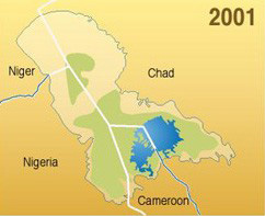 Lake Chad is 2001