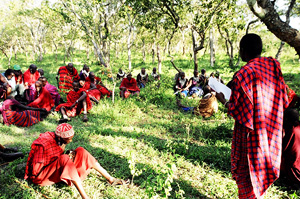 [Tanzania] Maasai elders meet in northern Tanzania to discuss HIV/AIDS awareness in the community