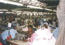[LESOTHO] Textile industry workers.