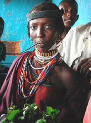 [Ethiopia] Yabello: A Borana woman on market days.