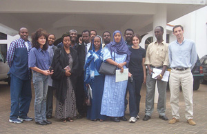 [Kenya - Radio] Somali Trainees and IRIN Radio and IRIN News staff.
