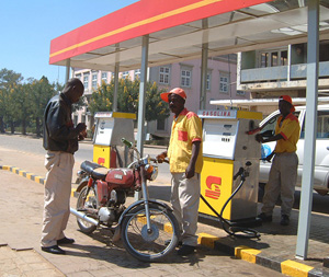 [Angola] Petrol service station in Huambo.