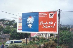 [South Africa] Artists for Human Rights (AHR), Durban Institute of Technology - Healy billboard.