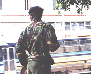 [Swaziland] Swaziland defence force soldier.