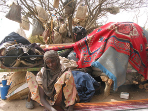 [Chad] Refugees in Kourbileke, eastern Chad.