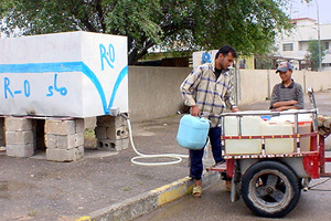 [Iraq] Water sellers in Basra need to improve the quality of their water, residents say.