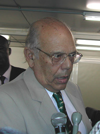 [DRC] Uruguayan President Jorge Batlle on his visit to the DRC. (Date taken 28 April 2004).