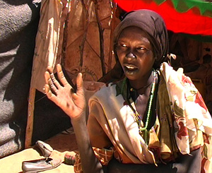[Sudan] Female refugee from Darfur describes how she and her family were attacked by militia and government forces in Darfur, March 2004.
