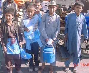 [Afghanistan] Thousands of children work the streets of Kabul to sustain their families.
