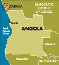 [Angola] Boundary map of Angola/Cabinda.