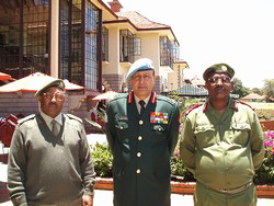 [Ethiopia - Eritrea] Gen Abrahaley, Maj-Gen Singh and Maj Yohannes at the MCC meeting in Nairobi.