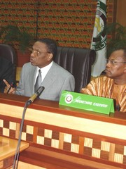 [Niger] President Mamadou Tandja of Niger at the ECOWAS annual summit, Accra, January 2005.