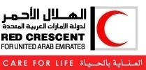 United Arab Emirates Red Crescent logo.