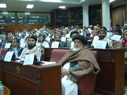 [Afghanistan] A scene inside the Afghan parliament in Kabul. [Date picture taken: 12/20/2005]