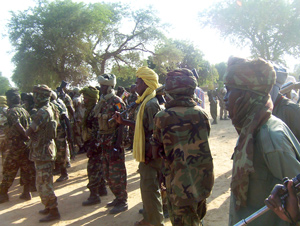 [Chad] Soldiers with the Chadian army in the town of Adre near the Sudanese border. [Date picture taken: December 2005]