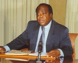 [Cote d'Ivoire] Charles Konan Banny former governor of the Central Bank of West African States (BCEAO), now interim prime minister by African Union appointment. [Date picture taken: 12/05/2005]