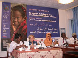 [Djibouti] Delegates discussing FGM  at a conference, Feb 2005.