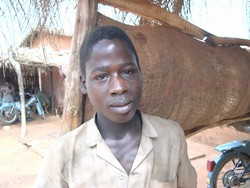 [Benin] Fifteen-year-old Celestin Ahouandjinou has never understood why trafficking is considered a bad thing. For five years, Celestin, who is from Benin, worked in a stone quarry in Nigeria. February 2005.