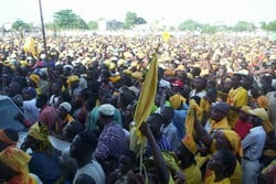 [Togo] Opposition rally in Lome a week before 24 April presidential election.