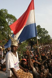 [Guinea-Bissau] Supporters of former Guinea-Bissau president Kumba Yala at Yala's last campaign rally in Bissau on June 17 2005 before the June 19 presidential election.